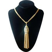 Vintage 1970's Monet Long Tassel Necklace
