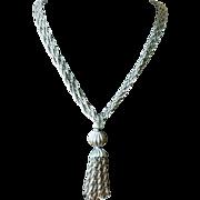 Vintage 1960's Multi Chain Tassel Pendant Necklace