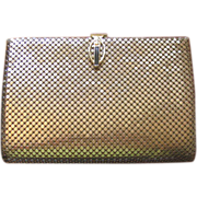 Vintage 1970's Paola Del Lungo Gold Mesh Evening Purse