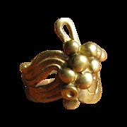 Vintage Modernist Brass Ring