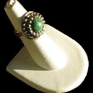 Vintage Modernist Eilat and Sterling Silver Ring