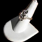 Vintage Modernist Organic Sterling Silver Ring Israel