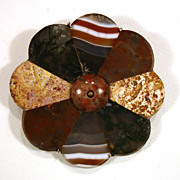 19C Scottish Agate Brooch