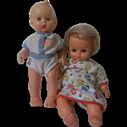 2 Vintage Dolls - Hummel Boy and Sebino Baby Girl