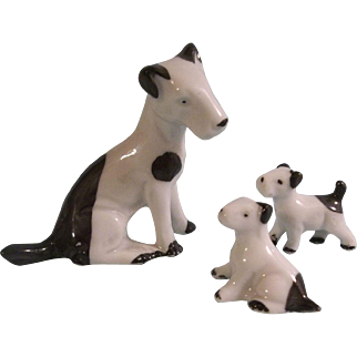 3 Precious Porcelain Pups for your Dollhouse Dolls