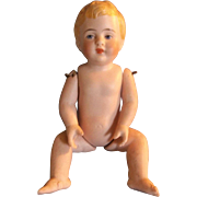 """Vintage 5-1/2"""" All Bisque Baby Doll to Dress - TLC"""