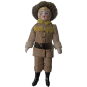 All Bisque Miniature German Soldier Doll in Original Uniform c1900 ~ Pre-Holiday Sale … Think Christmas!!!