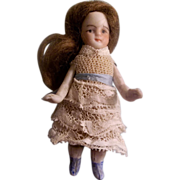 "All Bisque 2-1/2"" Jointed German Doll"