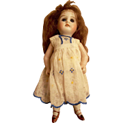 """Precious  5-1/4"""" Antique All Bisque Swivel Neck Mystery Doll"""