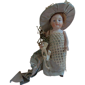 """Absolutely Lovely 5"""" Antique All Bisque German Doll"""
