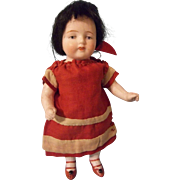 "Delightfully Chubby Antique 5-1/2"" All Bisque German Doll"