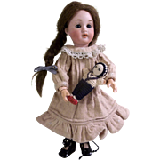 """Adorable 9"""" Fully Jointed Antique Bisque Head Doll 220"""