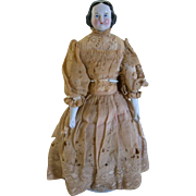 "Fabulous 15"" 1860s Kister China Head Doll"