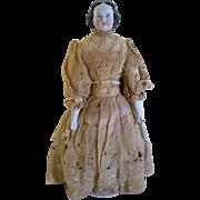 "Fabulous 15"" 1860s Kister China Head Doll"