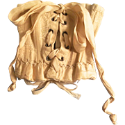 Lovely Antique Champagne Color Doll Corset with Wonderful Details