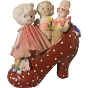 3 Cute All Bisque Dolls in Shoe