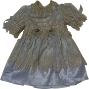 Gorgeous Vintage Dress with French Valenciennes Lace for your Special Doll
