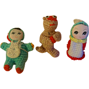 Funny Little Crocheted Toys for your Special Doll - Red Tag Sale Item