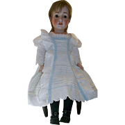 Beautiful White Antique Doll Dress with Fabulous Pin Tucks and Victorian Eyelet Lace