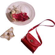 Vintage Hat and 2 Purses for Cissette or other small doll