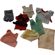Group of Tiny Antique Doll Clothes for your All Bisque Dolls