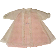 Delicate Vintage Night Gown and Robe for Baby Doll