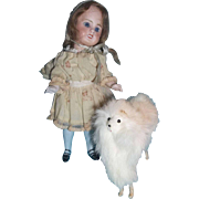 Fluffy White Fur Dog for your Lucky Doll - PRE HOLIDAY SALE!!!