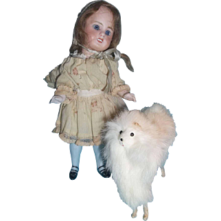 Fluffy White Fur Dog for your Lucky Doll