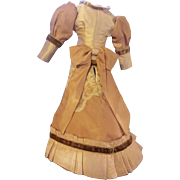 "Lovely Vintage Victorian Style Doll Dress for 12"" Doll"