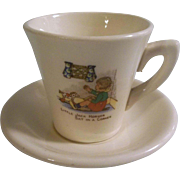 Darling Child's Nursery Rhyme Tea Cup and Saucer - Little Jack Horner