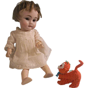 Adorable Orange Crochet Monkey Toy for your Lucky Doll