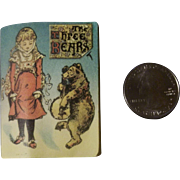 Miniature Vintage Doll Book - The Three Bears