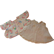 Adorable Vintage Baby Slip and Robe for your Special Little Baby Doll