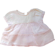 Pink and White Cotton Doll Dress for Your Special Baby Doll
