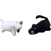 Adorable Vintage Miniature Crochet Mice Toys for your Doll