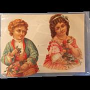 Victorian Die Cut Card