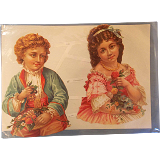 Victorian Die Cut Card