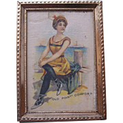 Fashionable Old Point Comfort Beach Bathing Beauty Silk Dollhouse Picture