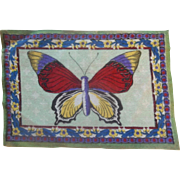 Pretty Vintage Butterfly Dollhouse Rug