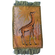 Wonderful Giraffe Tobacco Silk Dollhouse Rug - Hard to Find