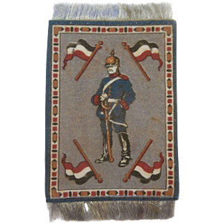 Handsome Dollhouse Rug with German Soldier