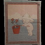 Adorable Kewpie Dollhouse Rug - Planting c1914