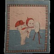 Cute Kewpie Dollhouse Rug - Kewpies at Target Practice c1914