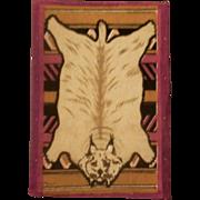Wonderful Wild Cat Dollhouse Rug
