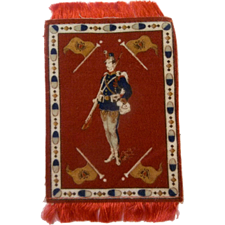 Lovely Dollhouse Rug with Balkan State or Russian Soldier