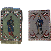 2 Wonderful Soldier Dollhouse Rugs for your Doll's Little Palace!