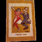 Rare Dollhouse Rug - Yiddisher Tango