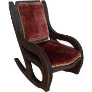 Wonderful Vintage Large Scale Dollhouse Rocking Chair