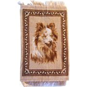 Sweet Sheltie or Collie Dog Dollhouse Rug - Hard to Find