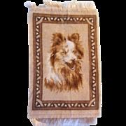 Sweet Sheltie or Collie Dog Dollhouse Rug - Hard to Find